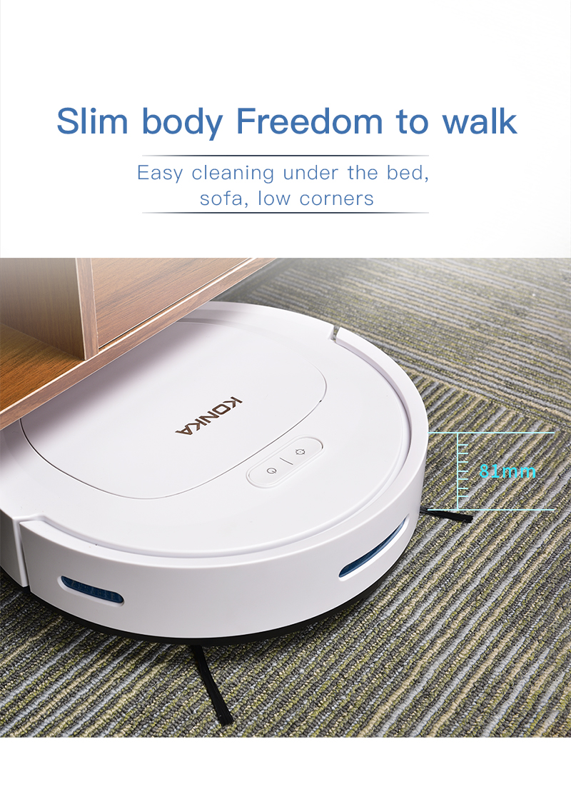 IKONKA V88 Automatically Chargeable Robot Vacuum Cleaner For Hard Floors and Carpet 13
