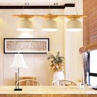 Modern wood art Pendant Lamp light Fixture Hanging Line Ceiling Vintage Holder E27 lamp socket wood indoor Decoration