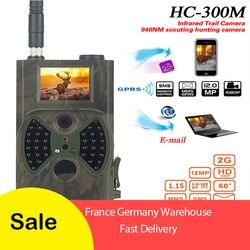 HC300M caméra de chasse numérique 16MP 1080P 40 pièces Infra LEDs 940nm Vision nocturne caméra de piste pièges Photo