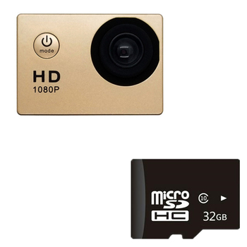 1080P HD Mini Action Camera 12MP Wireless IP Camera Camcorder 30m Waterproof DV Sports Cam CCTV Night Version Human Tracking 6