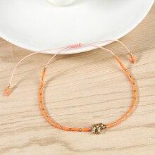 C.QUANCHI Minimalism Miyuki Seed Beaded Bracelets Female Friendship Tiny String Mujer Handmade Wrap Bangles NEW
