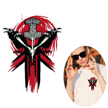 цена на Iron-On Transfers Punk Heat Transfer PVC Patch For Cloth Game FOR HONOR Viking faction Thermal Transfer Hot Vinyl Iron Stickers
