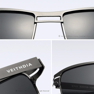 Image 4 - VEITHDIA 2020 גברים של משקפי שמש מקוטב UV400 עדשת שמש משקפיים מלבן נירוסטה משקפיים Eyewear אביזרי עבור גברים