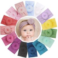 15Pcs Baby Headbands Turban Head Wrap Stretch Bow Soft Wide Nylon Hairband for Newborns Infants Toddlers