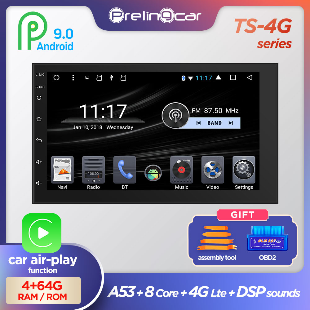 Android 9.0 Car Air-play Radio Multimedia Video Player Universal Auto Stereo GPS MAP For Forester Nissan Hyundai Kia Toyota CR-V