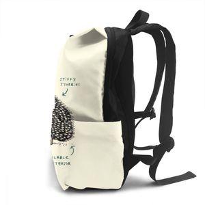 Image 4 - Hedgehog Rucksack Hedgehog Rucksäcke Schule Hohe qualität Tasche Männer Frauen Muster Trend Student Taschen