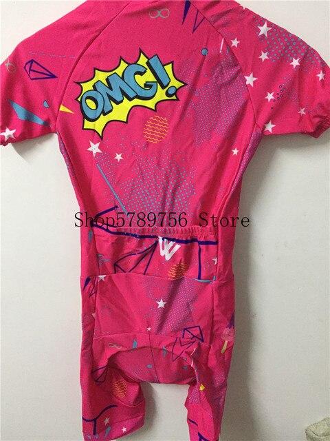 2019 pro equipe triathlon terno feminino camisa de ciclismo skinsuit macacão maillot ciclismo ropa ciclismo conjunto rosa almofada gel 6