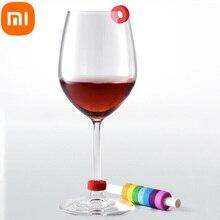Xiaomi Anillo de identificación circular de silicona para fiesta, marcador de identificación de copa de vino tinto, nivel de contacto de alimentos, amplio rango