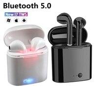 Auriculares TWS inalámbricos por Bluetooth 5,0, cascos gemelos con micrófono para iPhone, Samsung, Huawei y LG