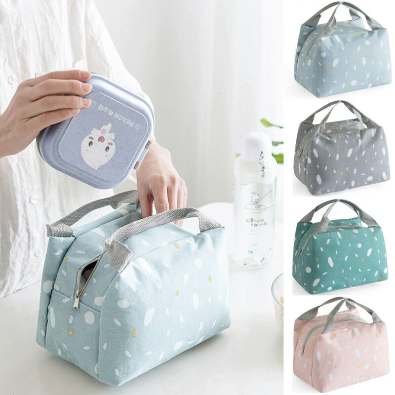 Practical Small Insulated Picnic Ice Pack Waterproof Oxford Cloth Lunch Cooler Bags Little Fresh Style Refrigerated Lunch Bags