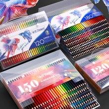 120/150/180 matite colorate ad acqua e olio colorate matita in legno morbido per bambini scuola disegno schizzo forniture d'arte
