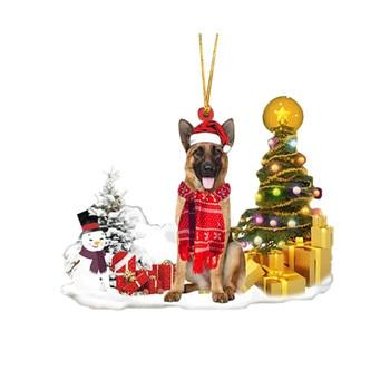 Dog Snowman Ornament  6