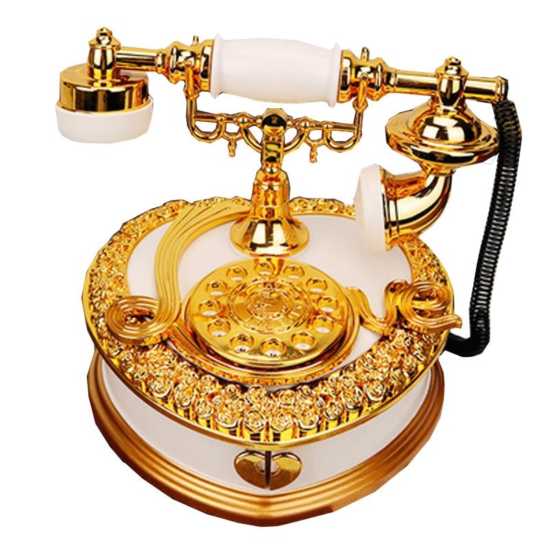 Creative Heart-shaped Telephone Music Box Ornaments Plastic Music Box Jewelry Box Home Decoration Children Toy Birthday Gifts