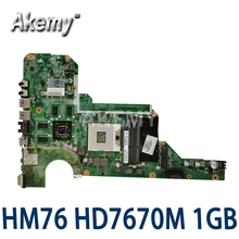 Para HP G4-2000 G6-2000 G7-2000 680570-001 Laptop Motherboard 680570-501 DA0R33MB6F1 DA0R33MB6F0 HM76 HD 7670M 1 GB