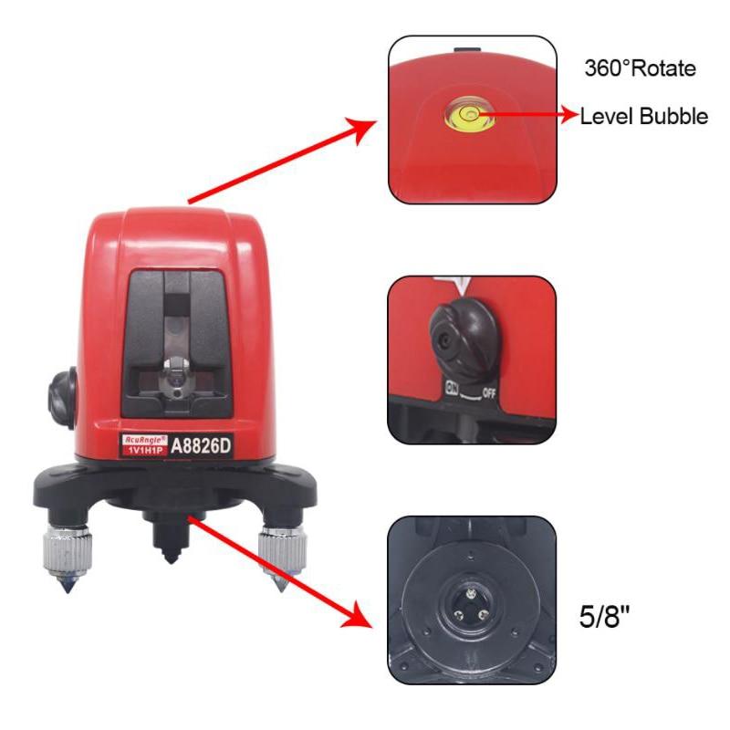 MPT Neue 360 Laser Ebenen Laser 3D Selbst 2 Linie Laser Horizontale Vertikale A8826D Stativ Mini Ebenen Palette Finder