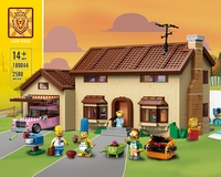 The Simpson series is 16005 model construction Simpsons home building block brick children's toys Gift