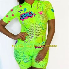 Women,s Omg Wow multiple colour,Triathlon Suit Long sleeve Cycling Jersey Skinsuit Jumpsuit Maillot Ropa ciclismo set