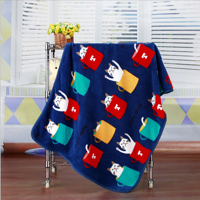 Super Soft Flannel Pet Blanket Bed Thicken Dog Cushion Puppy Kitty Shower Towel Cute Home Rug Warm Sleeping Cover Pet Supplies 9