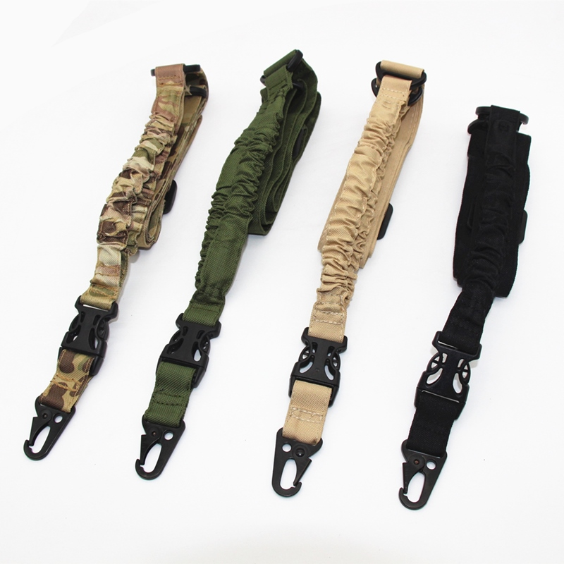 Tactical One Single Point Gun Sling Adjustable Buckle Airsoft Gun Slling Shoulder Strap Bungee Rifle M4 AR15 Hunting Accessories
