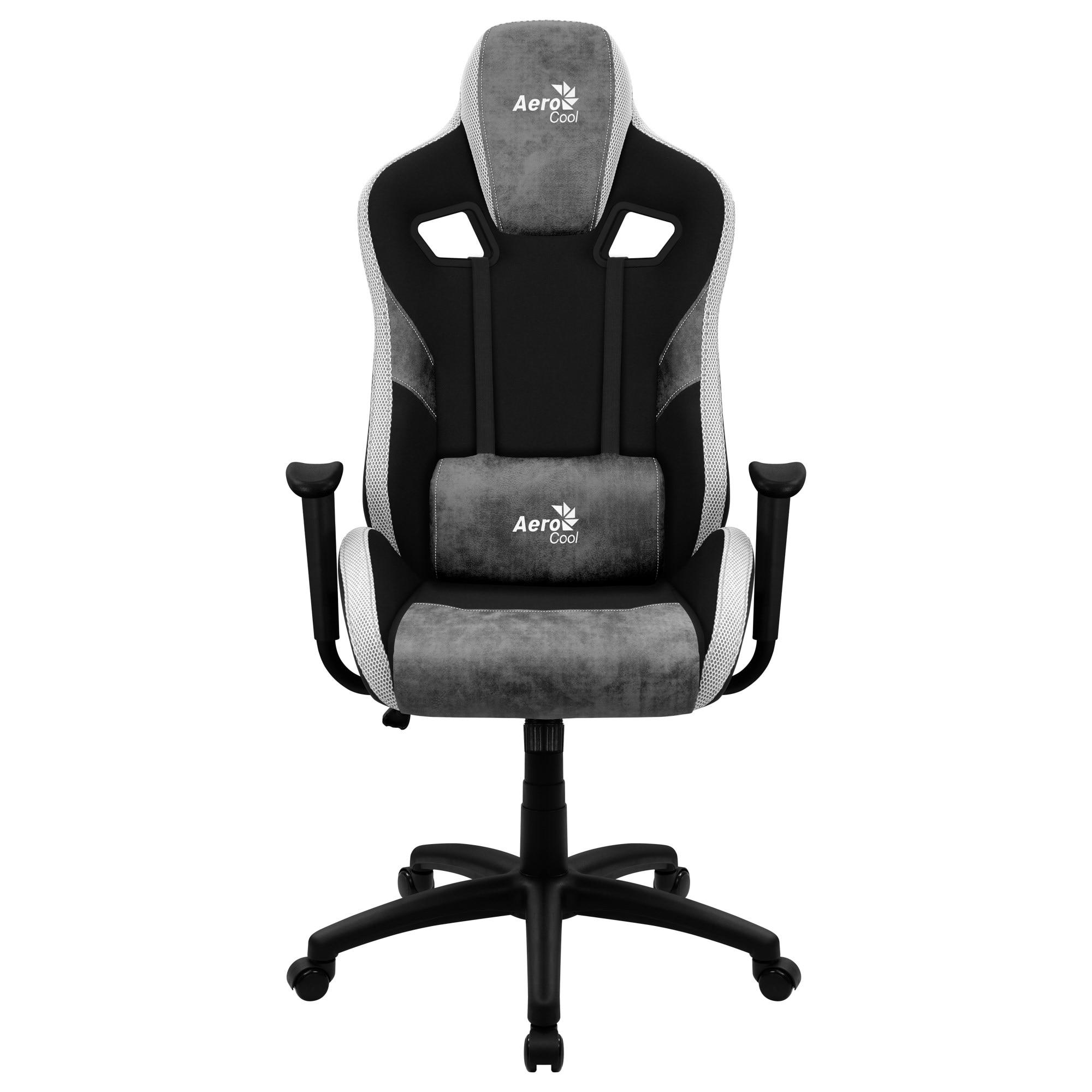 Aerocool COUNT, Gaming Chair, AeroSuede Breathable, Backstop Adjustable, Grey