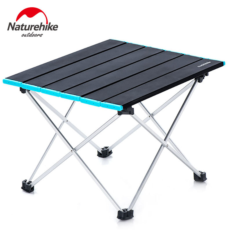 Naturehike Lightweight Table Compact Roll Up Aluminum Table Portable Folding Picnic Table Foldable Metal Foldable Camping Table