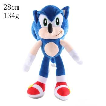 цена на 27cm Sonic Plush Doll Anime Figure Toys Sonic the hedgehog Plush Toys For Children Characters Gift