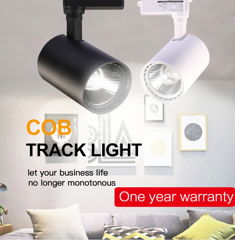 Track Light 12W 20W 30W 40W COB Led Track Lights Fixture Spot Ceiling Lamp 220V Spotlight Rail Lighting For Shop Kitchen Room