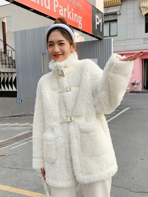 2019 New Style High-end Fashion Women Faux Fur Coat C34