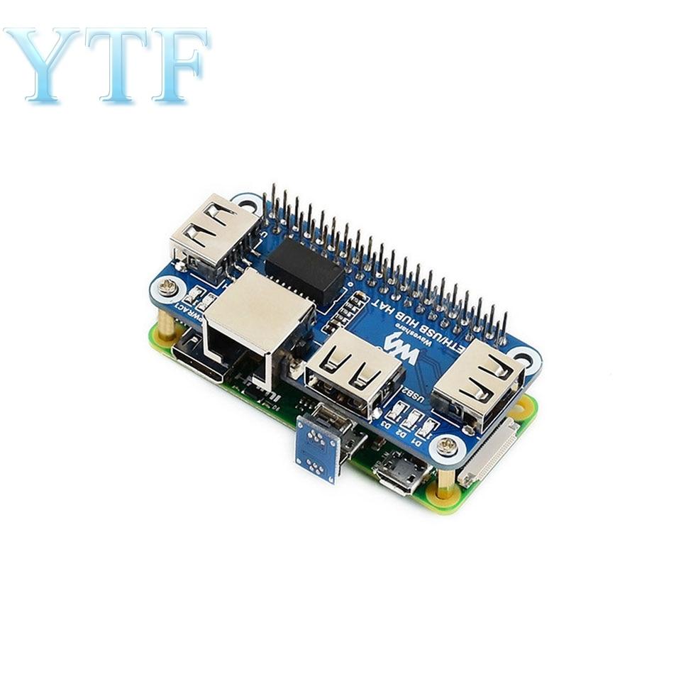 Raspberry Pi 4B/Zero W USB To Ethernet RJ45 Network Port USB HUB Splitter