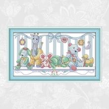Joy Sunday Cross-stitch Patterns Plush Toys, DIY Cross Stitch Handmade Embroidery suit, Counted Printed Fabric 14CT 11CT