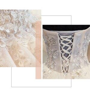 Image 5 - สินค้าใหม่เงาGorgeousชุดบอลชุดแต่งงานกับลูกปัดคริสตัลดอกไม้Casamento