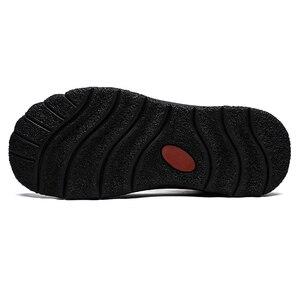 Image 4 - Męskie nowe skórzane buty zimowe utrzymuj ciepłą skórę bydlęcą miękkie na zewnątrz wspinaczka górska toolingskid odporność modne obuwie