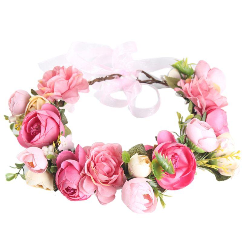 Festa de casamento coroa de flores simulação