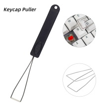 Stainless Steel Keyboard Removal Tool Key Keycap Puller Remover with Handle for Mechanical Black 1pc