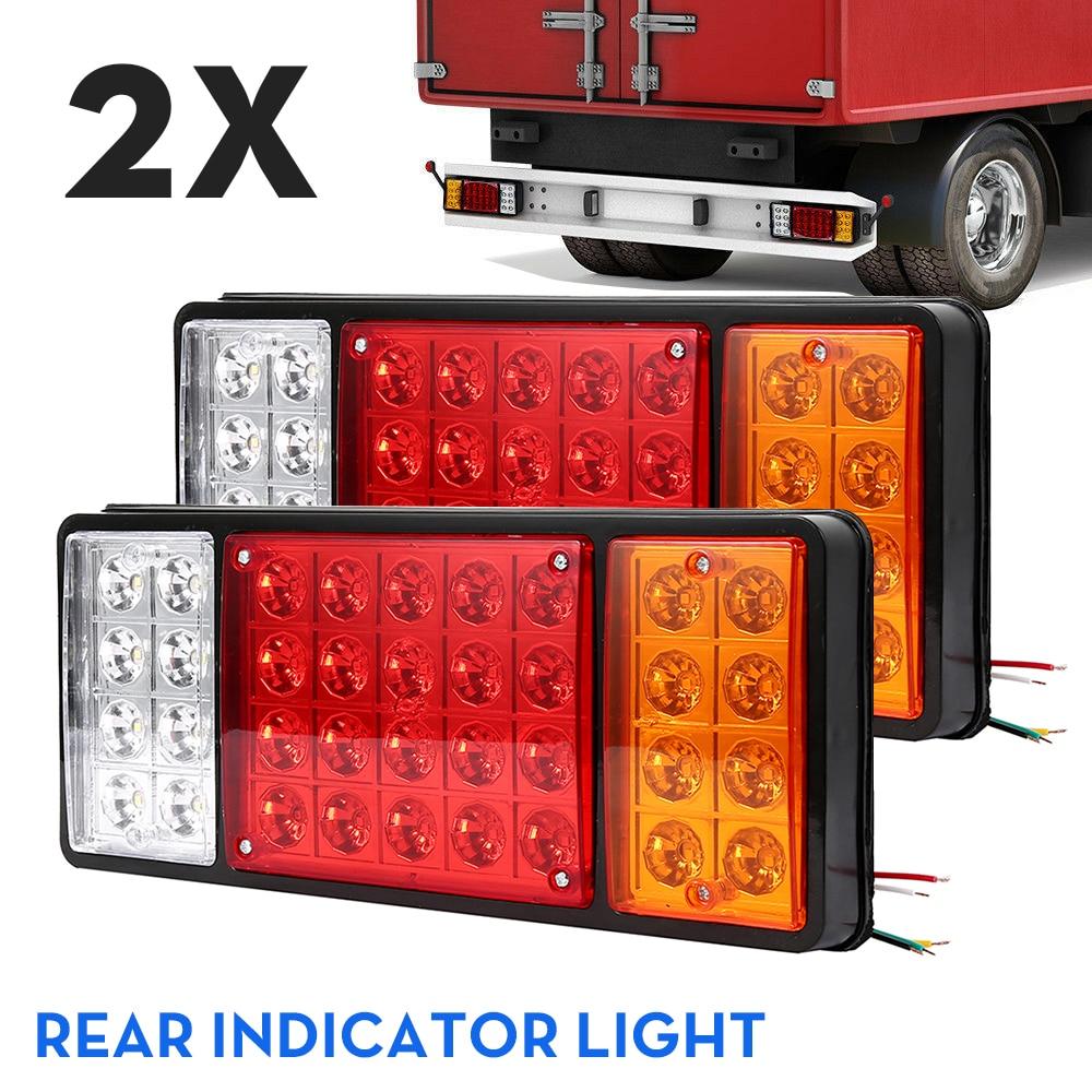 2pcs Waterproof 36 LED Car Truck Tail Light Rear Lamps Pair Boat Trailer 12V Rear Part For Trailer Caravans UTE Campers ATV Boat