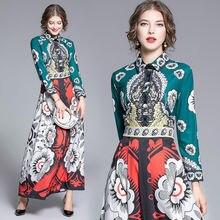 Женское модельное платье с отложным воротником винтажное цветочным
