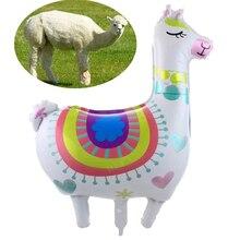 Babyshower Large Alpaca Balloons Cartoon Amnimal Aluminium Foil Ballon Party Decorations Birthday Kids 1pc