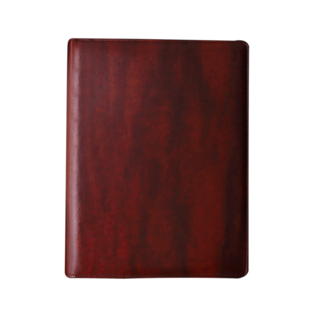 A4 File Business School Conference Folder Waterproof Fireproof Office Supplies PU Leather Resume Interview Document Organiser