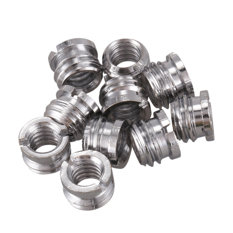 10 Pieces 1/4 To 3/8 Conversion Adapter For Metal Screw Mount, For Tripod And Quick Change Plate (1/4 To 3/8 Metal Screw)