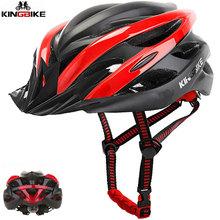 KINGBIKE kask rowerowy mężczyzna rower kask mtb kask rowerowy casco bicicletas jazda na zewnątrz kolizji Fietshelm do skutera tanie tanio (Dorośli) kobiety J-872-Red 230g 20 Ultralight kask black blue red green EPS (helmet bubble) PC (helmet shell) Bike cycling adjustable helmet 56-60cm 59-63cm