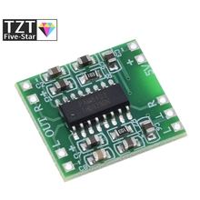 5 قطعة PAM8403 سوبر مضخم رقمي صغير مجلس 2*3 واط فئة D مضخم رقمي مجلس كفاءة 2.5 إلى 5 فولت USB امدادات الطاقة