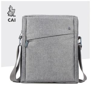 Image 1 - CAI 32cm Men Messenger Shoulder Bag Laptop Book Briefcase for iPad Tablet Handbag School Office Bags Crossbody Sling Tote