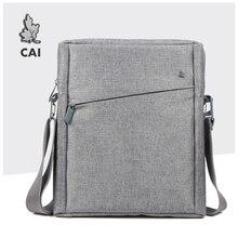 CAI 32cm mężczyźni torba listonoszka na ramię Laptop Book teczka na Tablet iPad torebka szkolne torebki biurowe Crossbody Sling Tote