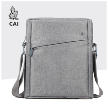 Cai bolsa de ombro masculina, maleta de ombro mensageiro para laptop ipad tablet, bolsa de mão, escola, escritório, tote