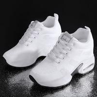 Femmes chaussures plate-forme dames baskets respirant femmes chaussures femme décontractées coussin d'air mode hauteur augmentant chaussures grande taille