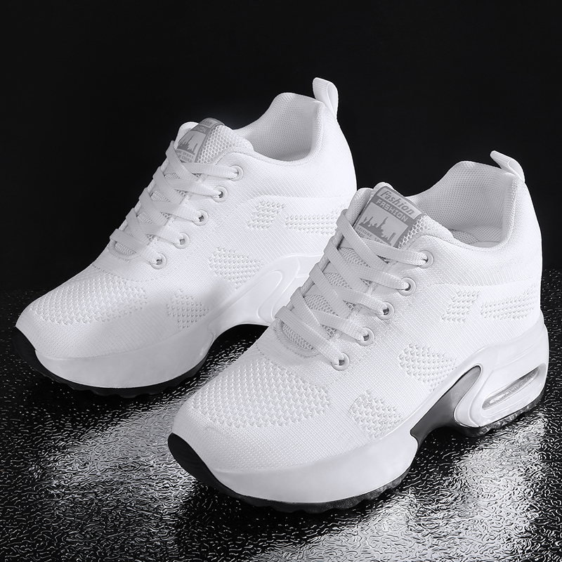 Women Shoes Increasing-Shoes Platform Air-Cushion Ladies Sneakers Breathable Plus-Size title=