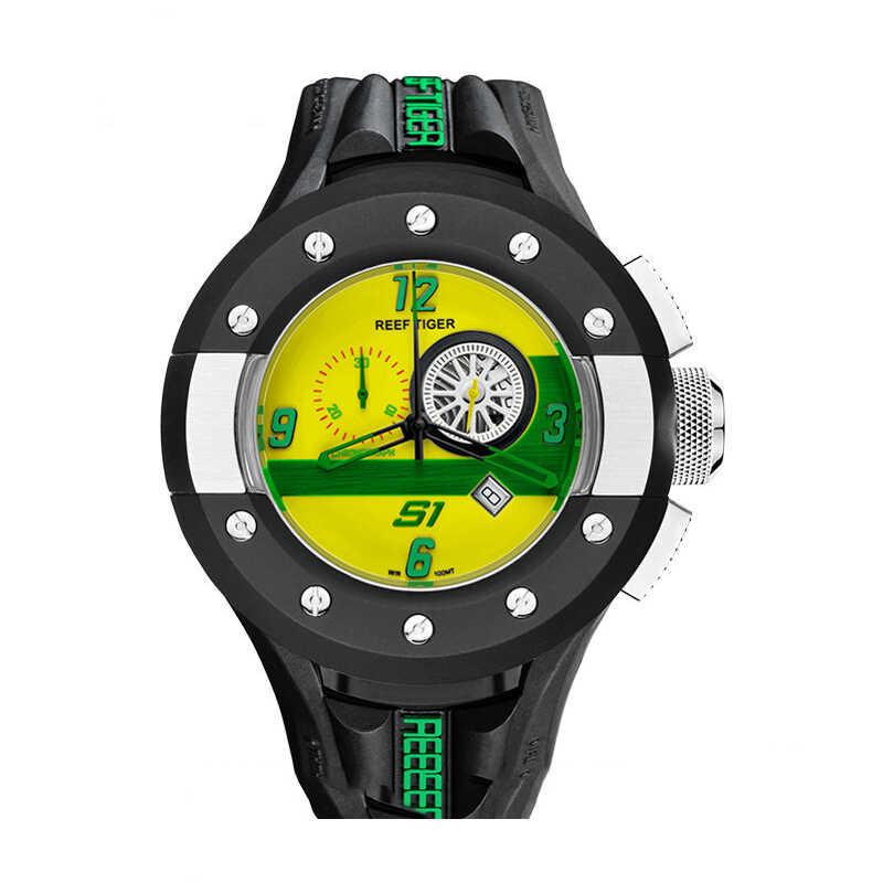 スポーツクォーツ時計男性、メンズ腕時計リーフ虎男クロノグラフ防水腕時計ゴムバンドレロジオ masculino RGA3027