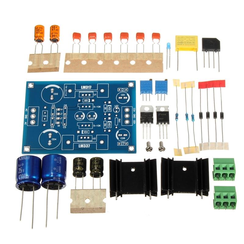 Lm317 Adjustable Filtering Power Supply Lm337 Voltage Regulator Module Diy Kit|AC/DC Adapters| |  -