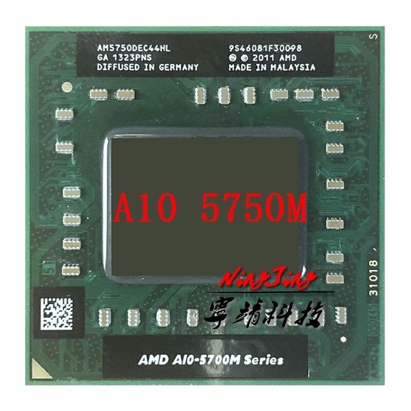 AMD A10-Series A10-5750M A10 5750 M 2,5 GHz четырехъядерный процессор AM5750DEC44HL разъем FS1