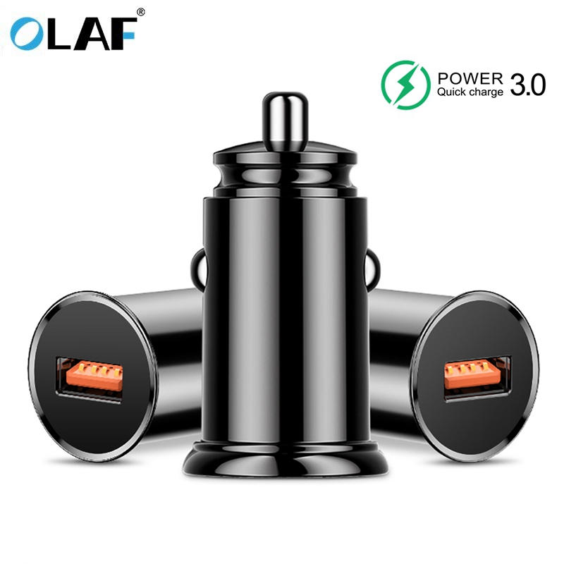 OLAF Quick Charge 3 0 Car Charger For iPhone X 5V 3A GPS Auto Tablets Charger Travel Adapter For Samsung Mobile Phone Chargers in Car Chargers from Cellphones Telecommunications